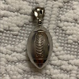 Jewelry - Sterling Silver football pendant! 🏈